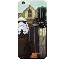 American Gothic Darth Vader & Stormtrooper iPhone Case/Skin
