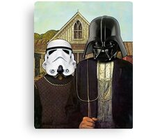American Gothic Darth Vader & Stormtrooper Canvas Print