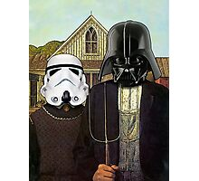 American Gothic Darth Vader & Stormtrooper Photographic Print