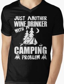 Just Another Wine Drinker With A Camping Problem Mens V-Neck T-Shirt
