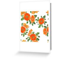 Watercolor poppies Greeting Card