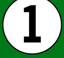 1, First, Number One, ONE, Number 1, Racing, Numero Uno, British Racing Green by TOM HILL - Designer