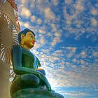 Jade Buddha for Universal Peace (side view) by njordphoto