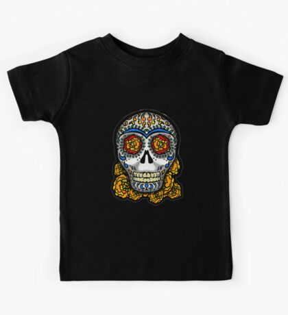 Sugar Skull - Marigolds Kids Tee