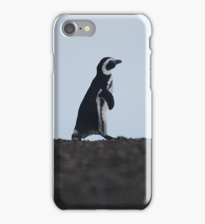 Penguin out for a walk iPhone Case/Skin