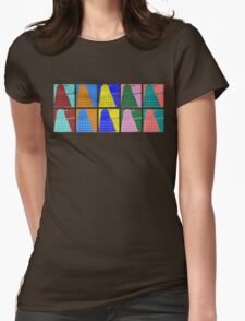 Pop art Daleks - variant 1 Womens Fitted T-Shirt