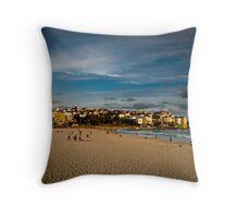 Late afternoon, Bondi Beach Throw Pillow