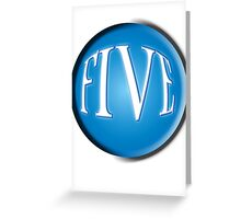 FIVE BALL, FIFTH, NUMBER 5, 5, TEAM SPORTS, Competition, BLACK Greeting Card