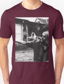 Kurt Cobain w/ a cute cat T-Shirt