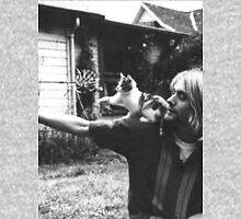 Kurt Cobain w/ a cute cat Unisex T-Shirt
