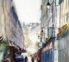 Narrow Streets of Paris by Misha Kuznetsov