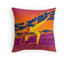 Upward Bow Throw Pillow