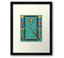Pocket Billiards Framed Print