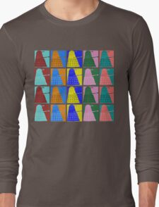 Pop art Daleks - variant 2 Long Sleeve T-Shirt