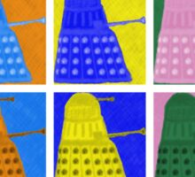 Pop art Daleks - variant 2 Sticker