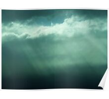 Rays of light through the clouds Poster