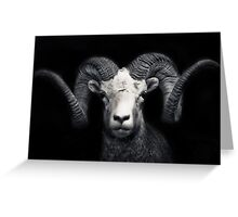 Portrait of a goat Greeting Card
