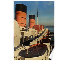 1930's cruise ship at sunset Poster