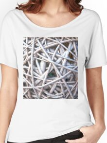 Twisted Wicker Branches Texture Women's Relaxed Fit T-Shirt