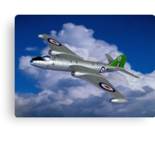 In Her Pomp: English Electric Canberra B6 aircraft painting Canvas Print