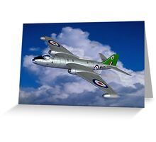In Her Pomp: English Electric Canberra B6 aircraft painting Greeting Card