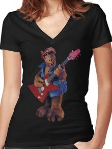 ALF YEAH Women's Fitted V-Neck T-Shirt