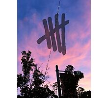 Sunset - 5SOS Logo Photographic Print