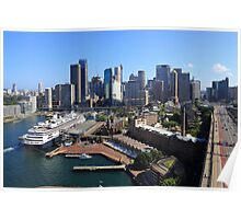 Cruiser Ship in Sydney Poster