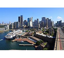 Cruiser Ship in Sydney Photographic Print