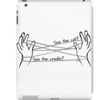 See the cat? See the cradle? iPad Case/Skin