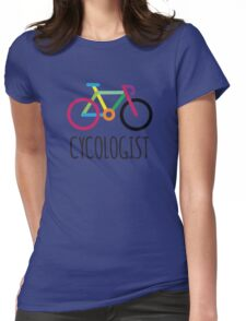 Cycling Bicycle Cycle Funny Cyclist Colorful  Womens Fitted T-Shirt