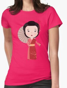Chinese woman Womens Fitted T-Shirt