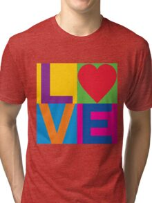 Checkered LOVE Tri-blend T-Shirt