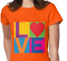 Checkered LOVE Womens Fitted T-Shirt