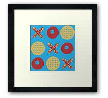 Breakfast TicTacToe Framed Print