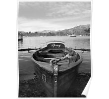 Lake Windermere, Row Boat Poster