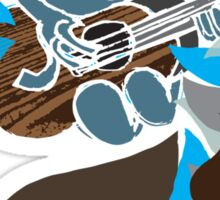 Blue Guitar Sticker