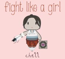 Fight Like a Girl - Chell | Portal Kids Clothes