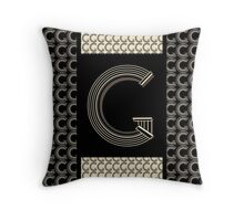 Metropolitan Park Deco 1920s Art  monogram letter initial G Throw Pillow