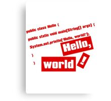 Hello, World! Canvas Print