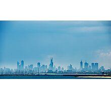 Melbourne From Brighton Beach Photographic Print