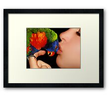 A Loving Kiss ♥ Framed Print