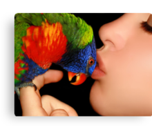 A Loving Kiss ♥ Canvas Print