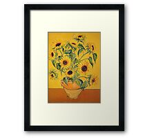 'A Brush with Vincent'.  Framed Print