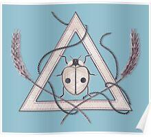LadyBug Triangle - Pearl Poster