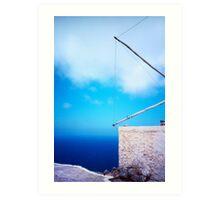 Greek windmill Art Print
