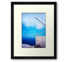 Greek windmill Framed Print
