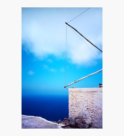 Greek windmill Photographic Print