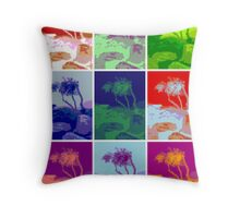 Brooms Head collage tree Throw Pillow