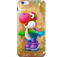 Rainbow Yoshi Loves Dry Bones! Yoshi Art, Dry Bones Art, Video Game Art iPhone Case/Skin